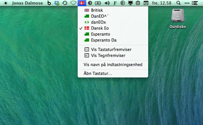 Esperanto-tastaturer til Mac OSX
